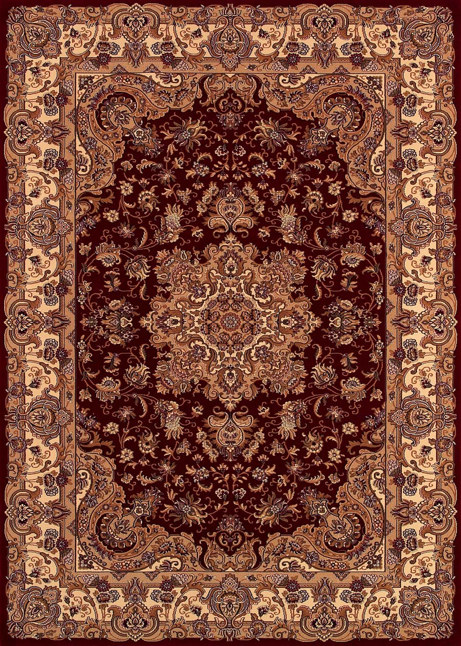 Couristan Himalaya 6289/4783 Annapurna Antique Creme/Persian Red Rug